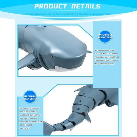 Electric Simulation Remote Control Shark Toys