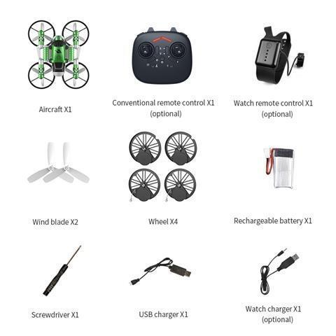 2 In 1 Remote Control Deformable Motorcycle Folding Drone