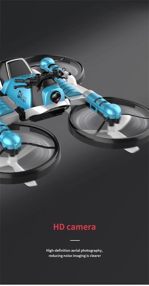 2 In 1 Remote Control Deformable Motorcycle Folding Drone HahaGet