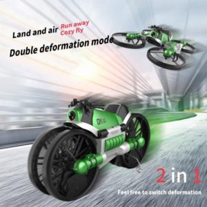 2 In 1 Remote Control Deformable Motorcycle Folding Drone - HahaGet